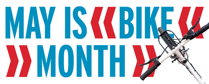 Logo image courtesy of The League of American Bicyclists. For more info on Bike Month go here: http://bikeleague.org/bikemonth